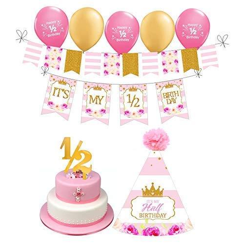 1 2 Birthday Girl Photo Prop 6 Month Princess Themed