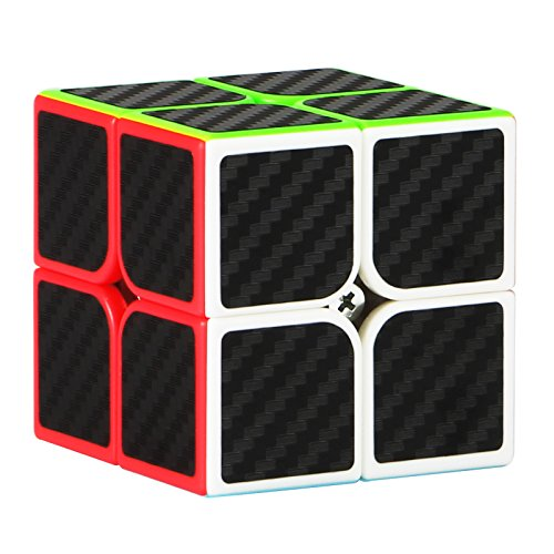 Dreampark 2x2x2 Speed Cube Carbon Fiber Sticker Smooth Magic Cube Puzzles