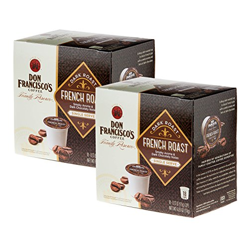 (Don Francisco's French Roast, Premium 100% Arabica Coffee, Dark-Roast, Single-Serve Pods for Keurig, 18-Count Combo Pack (36 Total))