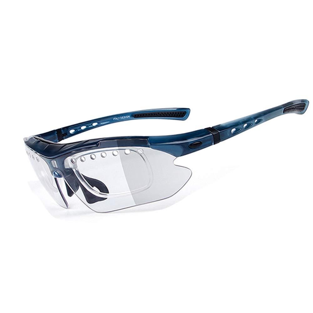 カラー変更ナイトビジョン偏光サングラススポーツランニングライトグラス (色 : 青)  青 B07PZW7FGB