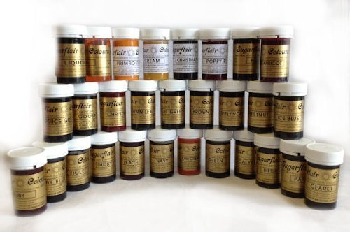 Full Set of 36 SUGARFLAIR High concentrate Food Colourings - Edible Paste / Gel colour by Sugarflair