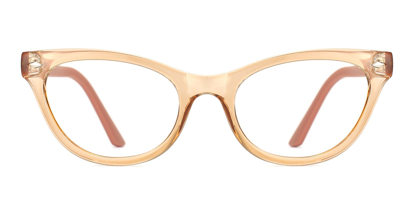 TIJN Super Inspired Mod Fashion Cat Eye Glasses Clear Color Translucent Eyewear Frame (Black) 00033507