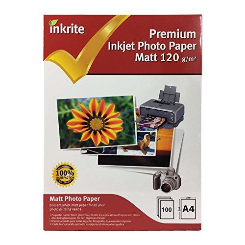Inkrite PhotoPlus Premium Paper Matt 120gsm A4 (100 - 120gsm Matt