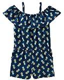 Osh Kosh Girls' Toddler Sleeveless Romper, Pineapple 2T