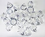 120 Pieces 1'' Acrylic Crystal Clear Diamond Gems Pirate Treasure Jewels Ornaments for Party Decoration ,Event ,Wedding , Vase Fillers, Arts & Crafts