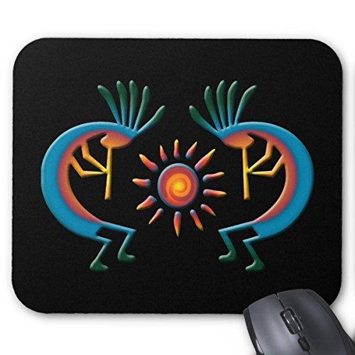 Smity 106 Mousepads Kokopelli with Sun Southwest Black Mouse Mat ()