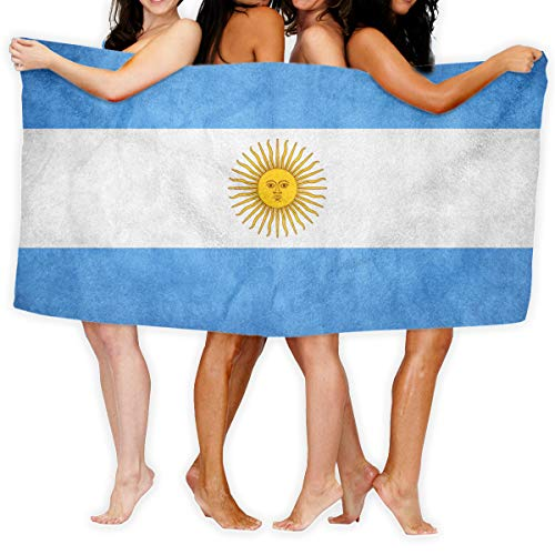 ROLLING CHIP Argentina Flag Microfiber Large Bath Towel Super Soft Highly Absorbent Comfortable Pool Gym Spa Bathroom Towels for Daily Use - 32