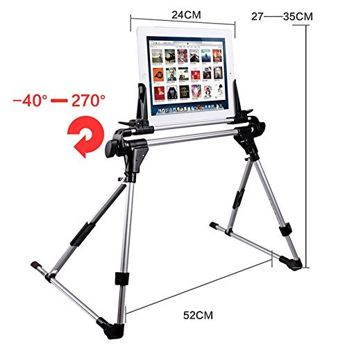 RIMI 201 Tablet Stands Foldable Laptop Stand Aluminum Laptop Mounts,Solid Aluminium Desktop Stand for Macbook Pro/Air and all Laptop Stand by Unknown
