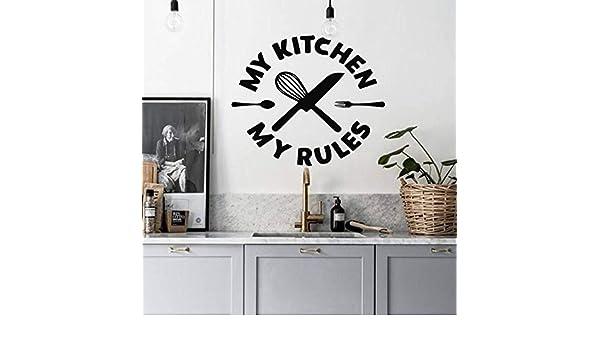 Tianpengyuanshuai Vinilos Decorativos Cocina mi Cocina mis Reglas ...