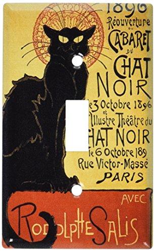 - Art Plates - Chat Noir (Black Cat) Switch Plate - Single Toggle