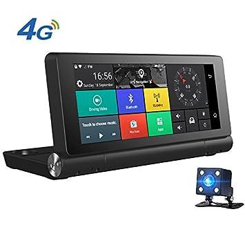 junsun Android 5.0 coche GPS con FULL HD cámara de doble lente Dash Cam 1080p Bluetooth 4 G - 7 Inch: Amazon.es: Electrónica