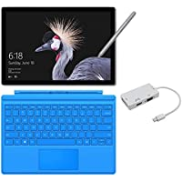 2017 New Surface Pro Bundle (4 Items): Core i7 16GB 512GB Tablet, Light Blue Type Cover (2016), New Surface Pen Platinum, Mini DisplayPort Adaptor