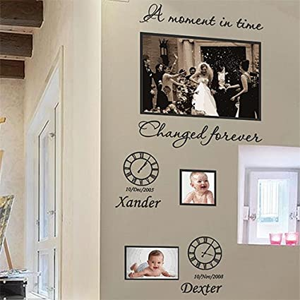 Small Personalized Family Children Photo Frames Art Wall Stickers Quotes Wall Decals-Apple Green