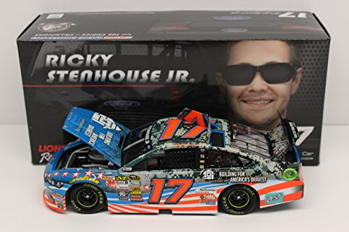 Lionel Racing ARC HOTO Ricky Stenhouse JR #17 Building for America's Bravest 2014 Ford Fusion NASCAR Die Cast Car (1:24 Scale) from Lionel Racing