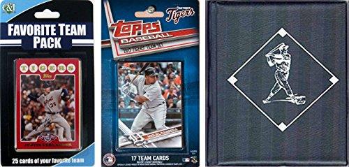 C&I Collectables MLB Detroit Tigers Men's Licensed 2017 Top Team Set & Favorite Player Trading Cards Plus Storage Album, ()