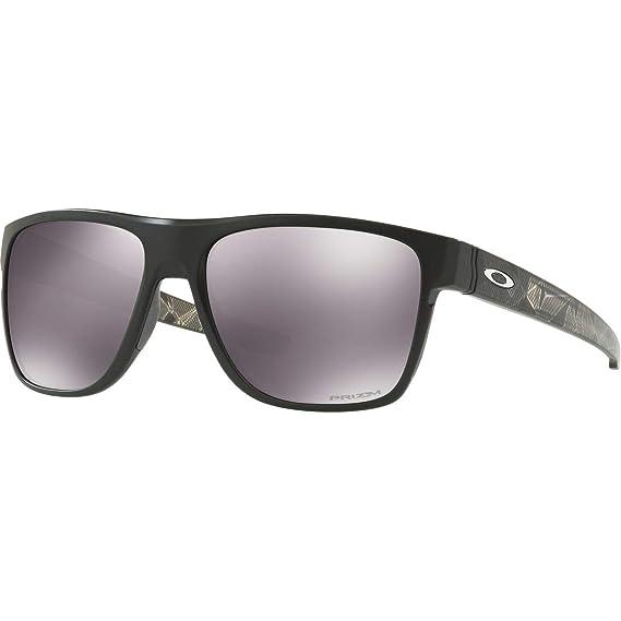 a41ae7e9e9 Amazon.com  Oakley Men s Crossrange XL Iridium Square Sunglasses Polished  black 58.04 mm  Oakley  Clothing