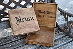 Personalized Cigar Box - Wedding Groomsman Gift - Bridal Party Gift - Gift for Bridal Party - Personalized Gifts for Him