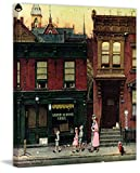 Marmont Hill Norman Rockwell Prints on Canvas ''Walking to Church'' Art Print, 40 by 48''