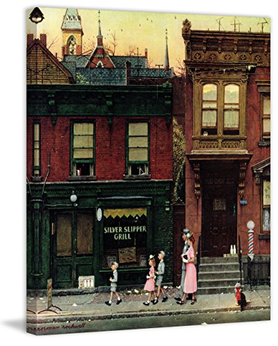 Marmont Hill Norman Rockwell Prints on Canvas ''Walking to Church'' Art Print, 40 by 48'' by Marmont Hill