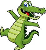 Cartoon Alligator Clip Art - Cute Alligator Mascot Stock Illustration!