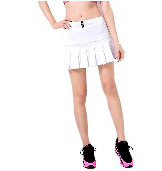 a516bd50716 LANBAOSI Jupe Tennis plissée avec Culotte Intégré