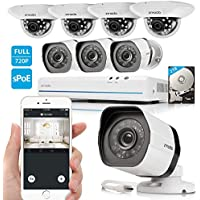 Zmodo 720p 8 Channel NVR System 8 x 1.0 Megapixel HD IP Home Video Security Cameras 2TB HDD
