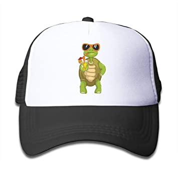 Divertido Tortuga Bebiendo Cóctel Sombreros Niño Niña Gorra de ...
