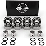 The Blank Skateboard Company - Skateboard Bearings (ABEC 7) | Premium Quality 608RS Ball Bearing | Perfect for Longboards, Cruiser Boards, Fidget Spinners | Made up of Chrome Steel & Rubber | Set of 8