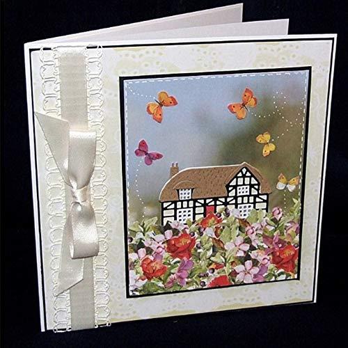 (Tudor Cottage &Snow Metal Cut Cutting Dies Mold Tool New 2019 Stencils Handmade DIY Craft Scrapbooking Scrapbook Paper Cards Making Decoration93x61mm)