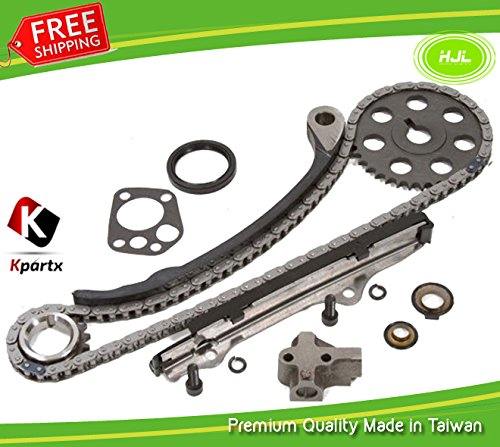 Fits for 1989-1997 Nissan 240SX D21 AXXESS STANZA Pick Up 2 4L Engine:KA24E  Replacement Timing Chain Kit with Gears+Gasket