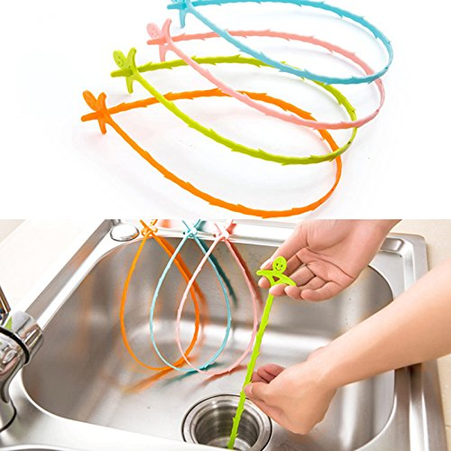 Cleaning Hook, Hair Drain Clog Remover and Removal Opener for Bathroom and Bathtub Dredge Device Small Tools Home Sewer Toilet Toilet Cleaning Tool