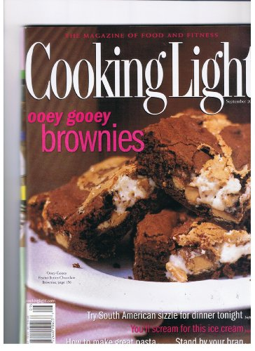 Ooey Gooey Brownies - Cooking Light Magazine Sept. 2000 Ooey Gooey Brownies, South American Sizzle for Dinner, How to Make Great Pasta, Stand By Your Bran, Ice Cream