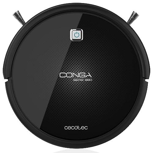 Cecotec Conga Serie 990 Excellence - Robot aspirador que friega, con 4 cepillos laterales, 220-240/50 Hz, Negro