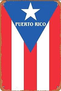 Vintage Tin Sign Metal Plate Plaque 12X16 Puerto Rico,Plaque Art Shark Island Boat Great Metal Tin SignMetal Signage Wall Decoration Garage Shop bar Living Room Wall Art
