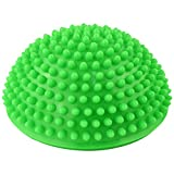 Yoga Half Ball - SODIAL(R)Yoga Half Ball Physical Fitness Appliance Exercise balance Ball point massage stepping stones balance pods GYM YoGa Pilates green