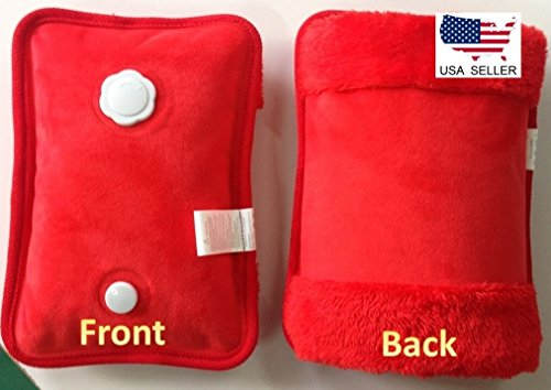 Red Rechargeable Portable Personal Heating Pad/Pack W/ Personal Pocket