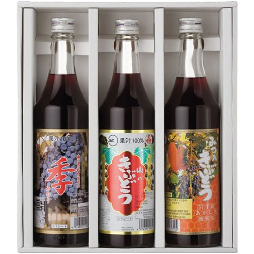 TasukuMiyuki SA500 gift set (three of the grape juice 600ml drink compared specialties 3 pieces) by TasukuMiyuki