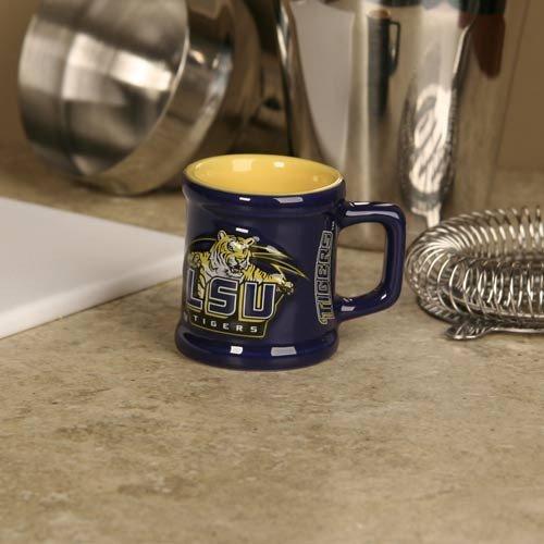LSU Tigers Purple 2 oz. Sculpted Team Shot Mug