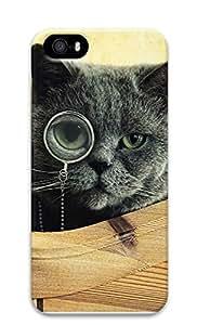 iPhone 5 5S Case Cat Monocle Glasses121 3D Custom iPhone 5 5S Case Cover