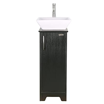 13 inch modern bathroom vanity units cabinet and 16 inch sink stand pedestal with square white - Bathroom Vanity Units