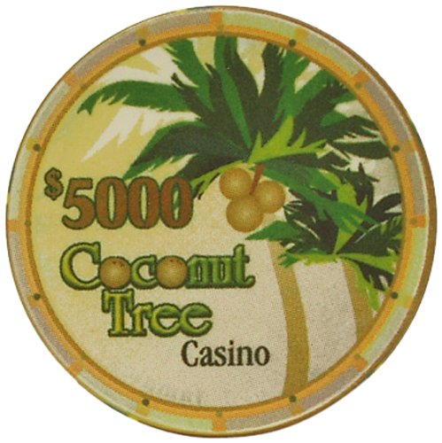 (50 Count, 5000 Dollars) - Trademark (50 Count, Poker Ceramic 50 Coconut Tree Poker Chips 50 Count B00GV34M2M, ケンチクボーイ:fabbe44b --- itxassou.fr