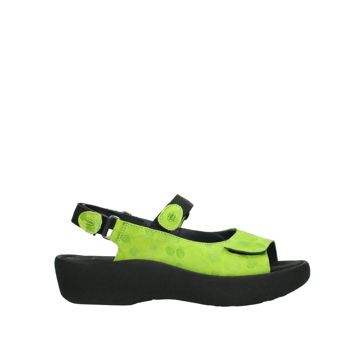 Wolky Womens 3204 Jewel Leather Sandals 40 EU|Lime
