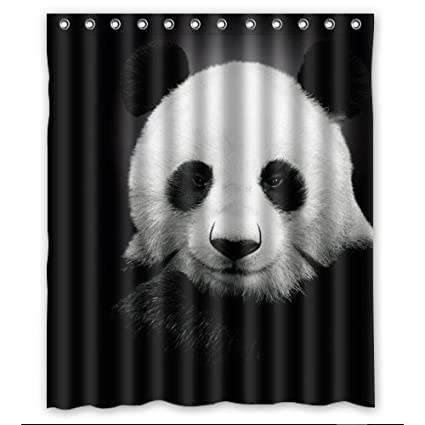 Amazon Unique Curtain Home Decor Cute Panda Shower