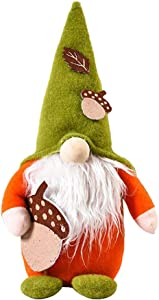 Alipher Fall Gnome Plush Autumn Gnome Swedish Faceless Doll Decoration Autumn Tomte Handmade Swedish Gnome Thanksgiving Day Gift Table Ornament for Halloween Christmas Thanksgiving Decor (Pine Cone)