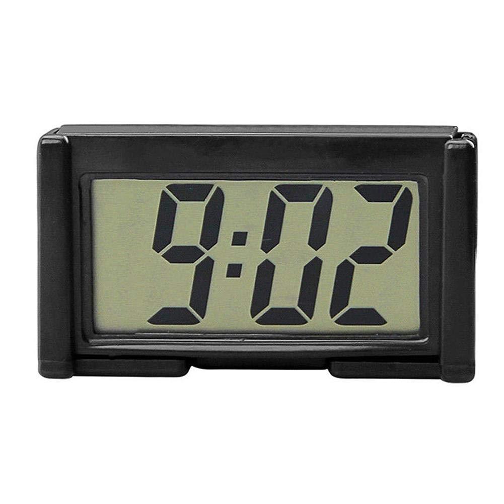 YOUNGFLY Mini Car Clock Auto Car Truck Dashboard Time Self-Adhesive Bracket Vehicle Electronic Digital Clock