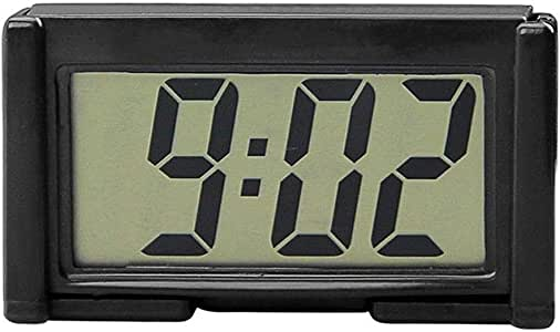 Niome Mini Car Clock Auto Car Truck Dashboard Time Self-Adhesive Bracket Vehicle Electronic Digital Clock