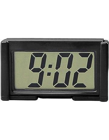 Febelle - Reloj Digital electrónico para Coche, camión, salpicadero, Autoadhesivo, con Soporte