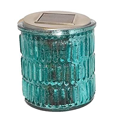 Aqua Starlite Reflections Solar Lantern Outdoor Patio Lighting