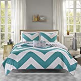 Mi-Zone Mizone Libra Coverlet Set-Blue-Full/Queen
