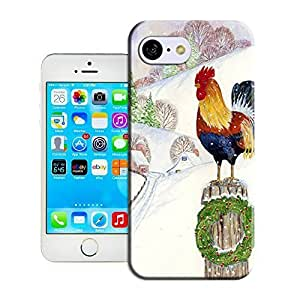 Customize Protective harvested Case Christmas Rooster have Back oranges Cover Case Egypt for iphone 6 4.7